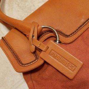 Pikolinos Leather/ Canvas Handbag